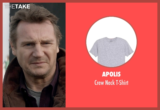 Apolis gray t-shirt from A Walk Among The Tombstones seen with Liam Neeson (Matthew Scudder)