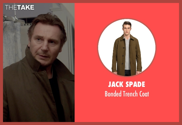Jack Spade green coat from A Walk Among The Tombstones seen with Liam Neeson (Matthew Scudder)