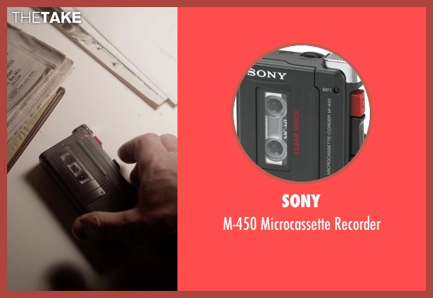 Sony recorder from A Walk Among The Tombstones seen with Liam Neeson (Matthew Scudder)
