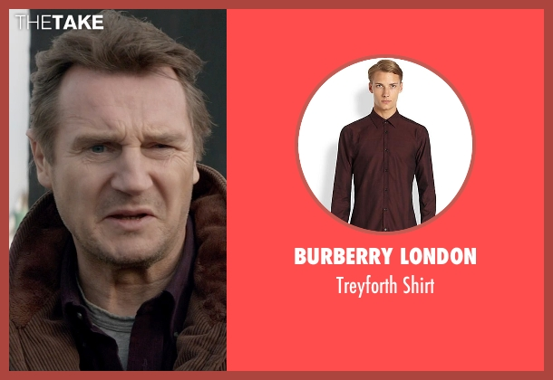 Burberry London red shirt from A Walk Among The Tombstones seen with Liam Neeson (Matthew Scudder)