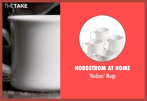 Nordstrom at Home white mugs from A Walk Among The Tombstones seen with Liam Neeson (Matthew Scudder)