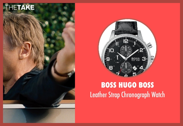 Boss Hugo Boss black watch from Entourage seen with Liam Neeson
