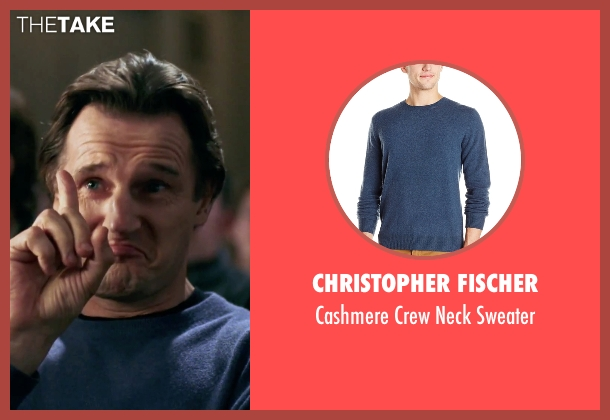 Christopher Fischer blue sweater from Love Actually seen with Liam Neeson (Daniel)