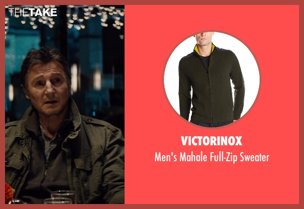Victorinox green sweater from Run All Night seen with Liam Neeson (Jimmy Conlon)