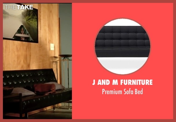 J and M Furniture black bed from Taken 3 seen with Liam Neeson (Bryan Mills)