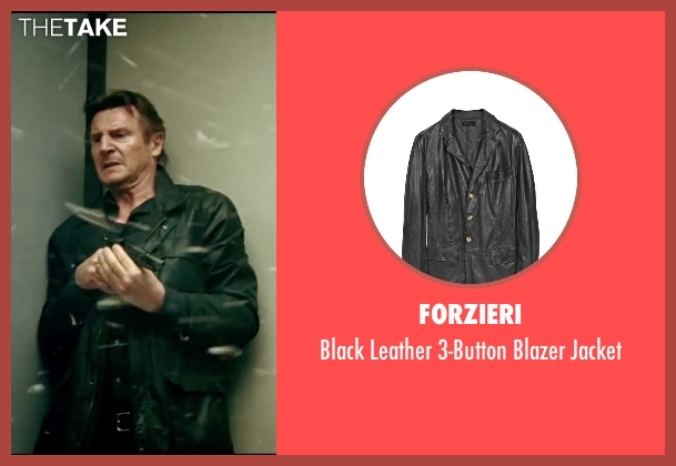 Forzieri black jacket from Taken 3 seen with Liam Neeson (Bryan Mills)
