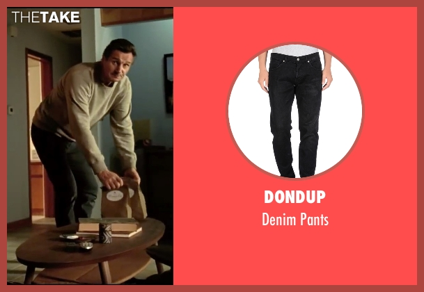 Dondup black pants from Taken 3 seen with Liam Neeson (Bryan Mills)