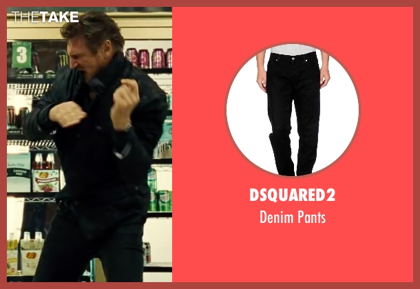 DSquared2 black pants from Taken 3 seen with Liam Neeson (Bryan Mills)