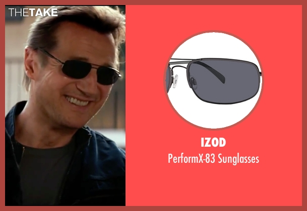 Izod black sunglasses from Taken 3 seen with Liam Neeson (Bryan Mills)