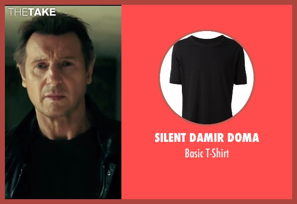 Silent Damir Doma black t-shirt from Taken 3 seen with Liam Neeson (Bryan Mills)