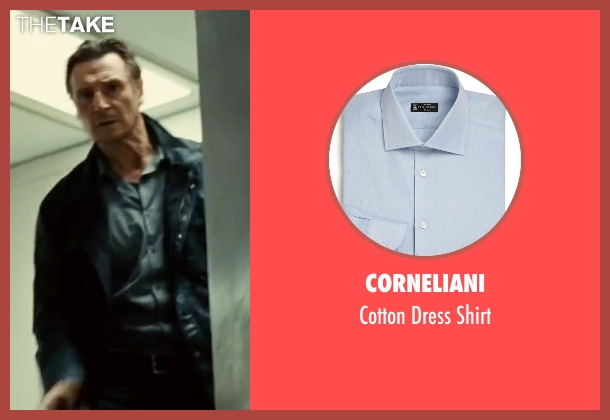 Corneliani blue shirt from Taken 3 seen with Liam Neeson (Bryan Mills)