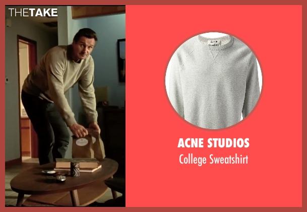 Acne Studios gray sweatshirt from Taken 3 seen with Liam Neeson (Bryan Mills)