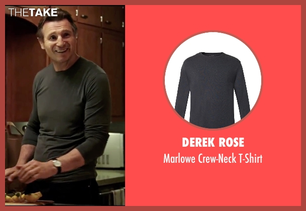 Derek Rose gray t-shirt from Taken 3 seen with Liam Neeson (Bryan Mills)