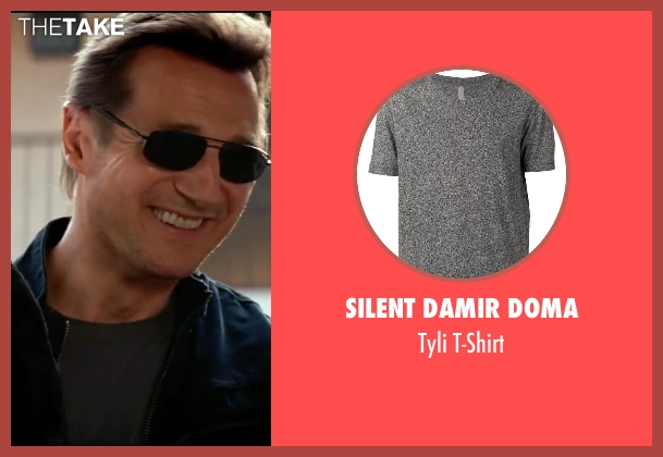 Silent Damir Doma gray t-shirt from Taken 3 seen with Liam Neeson (Bryan Mills)