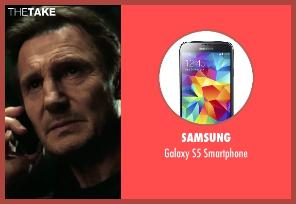 Samsung smartphone from Taken 3 seen with Liam Neeson (Bryan Mills)