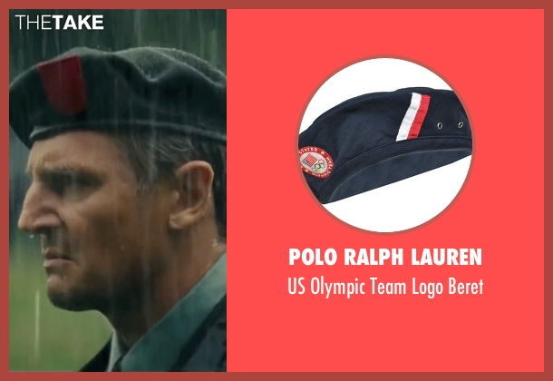 Polo Ralph Lauren black beret from The A-Team seen with Liam Neeson (Hannibal)