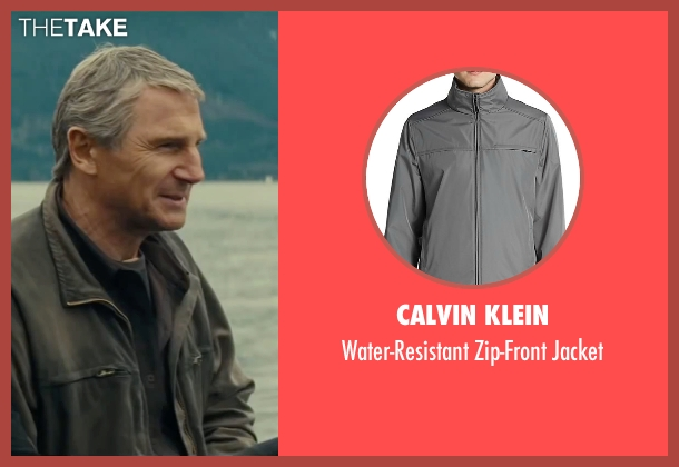 Calvin Klein gray jacket from The A-Team seen with Liam Neeson (Hannibal)