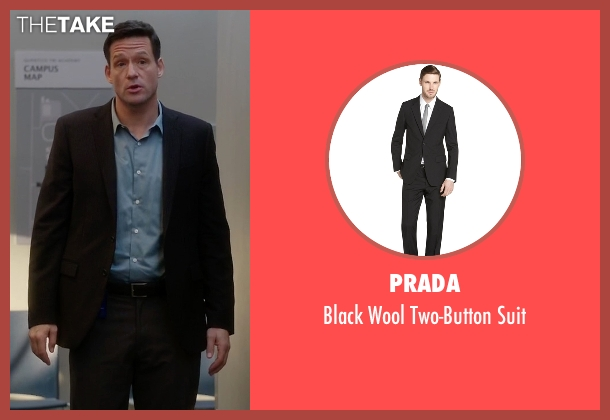 Prada black suit from Quantico seen with Liam O'Connor (Josh Hopkins)