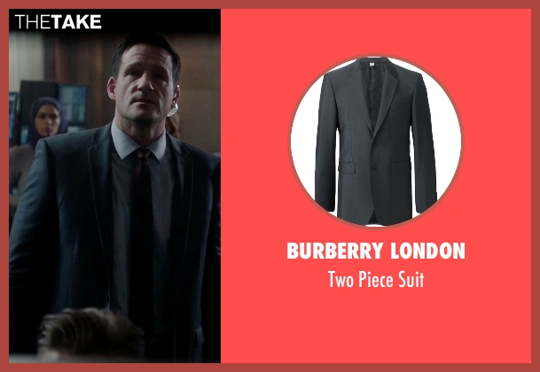 Burberry London gray suit from Quantico seen with Liam O'Connor (Josh Hopkins)