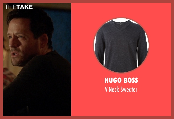 Hugo Boss gray sweater from Quantico seen with Liam O'Connor (Josh Hopkins)