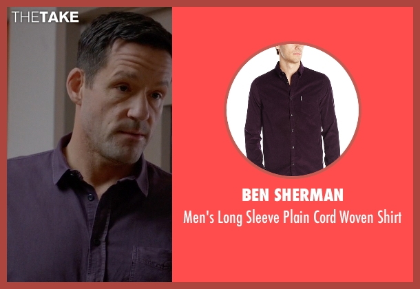 Ben Sherman purple shirt from Quantico seen with Liam O'Connor (Josh Hopkins)
