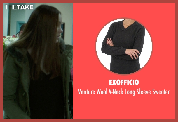 ExOfficio black sweater from If I Stay seen with Liana Liberato (Kim Schein)