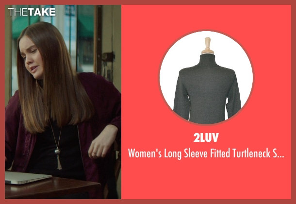 2LUV black sweater from If I Stay seen with Liana Liberato (Kim Schein)
