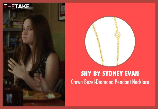 SHY by Sydney Evan gold necklace from If I Stay seen with Liana Liberato (Kim Schein)