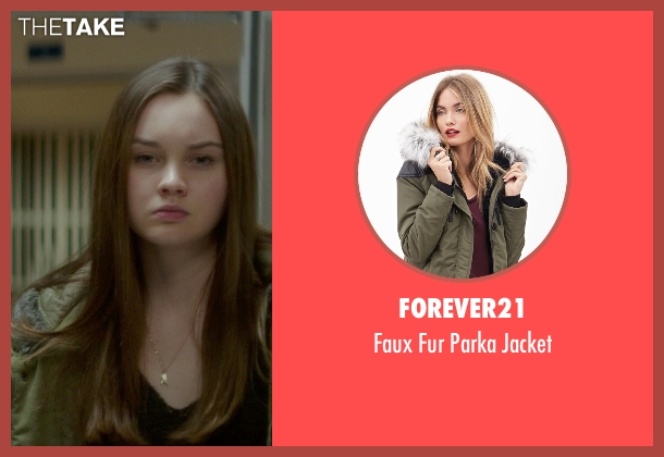 Forever21 green jacket from If I Stay seen with Liana Liberato (Kim Schein)