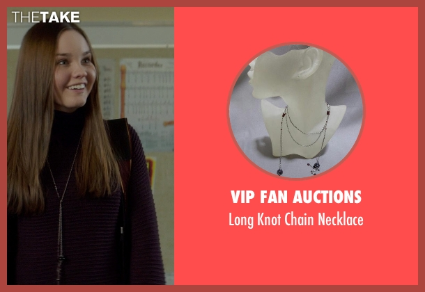 VIP Fan Auctions necklace from If I Stay seen with Liana Liberato (Kim Schein)