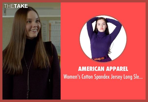 American Apparel purple tee from If I Stay seen with Liana Liberato (Kim Schein)