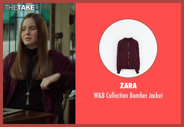 Zara red jacket from If I Stay seen with Liana Liberato (Kim Schein)