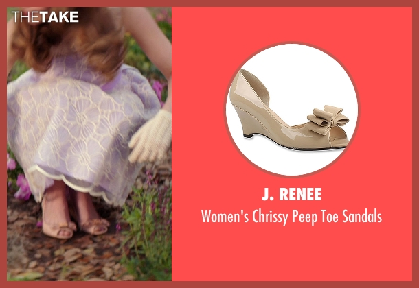 J. Renee beige sandals from The Best of Me seen with Liana Liberato (Amanda Collier)