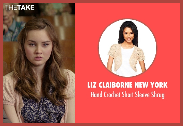 Liz Claiborne New York beige shrug from The Best of Me seen with Liana Liberato (Young Amanda)