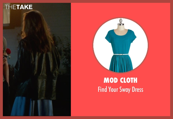 Mod Cloth blue dress from The Best of Me seen with Liana Liberato (Young Amanda)