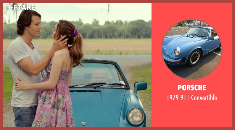 Porsche convertible from The Best of Me seen with Liana Liberato (Young Amanda)