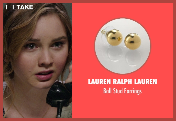 Lauren Ralph Lauren gold earrings from The Best of Me seen with Liana Liberato (Young Amanda)