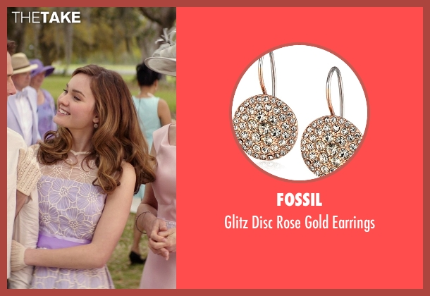 Fossil gold earrings from The Best of Me seen with Liana Liberato (Young Amanda)