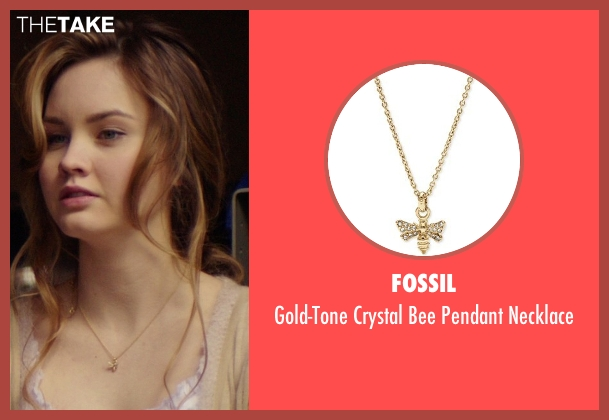 Fossil gold necklace from The Best of Me seen with Liana Liberato (Young Amanda)