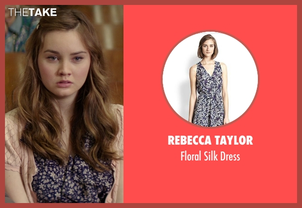 Rebecca Taylor purple dress from The Best of Me seen with Liana Liberato (Young Amanda)