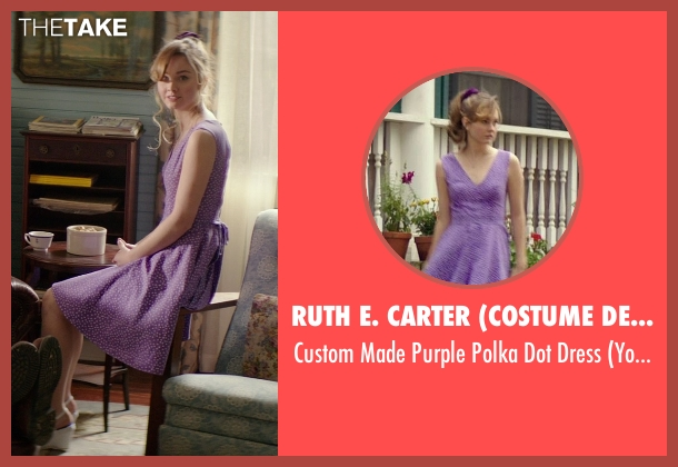 Ruth E. Carter (Costume Designer) purple dress from The Best of Me seen with Liana Liberato (Young Amanda)