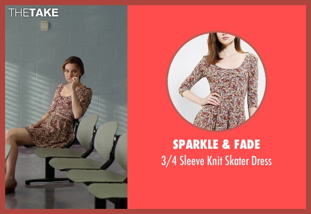 Sparkle & Fade red dress from The Best of Me seen with Liana Liberato (Young Amanda)