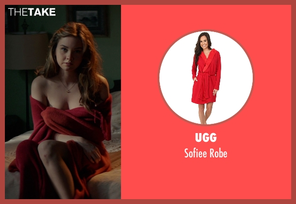 UGG red robe from The Best of Me seen with Liana Liberato (Young Amanda)