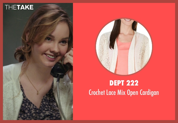 Dept 222 white cardigan from The Best of Me seen with Liana Liberato (Young Amanda)