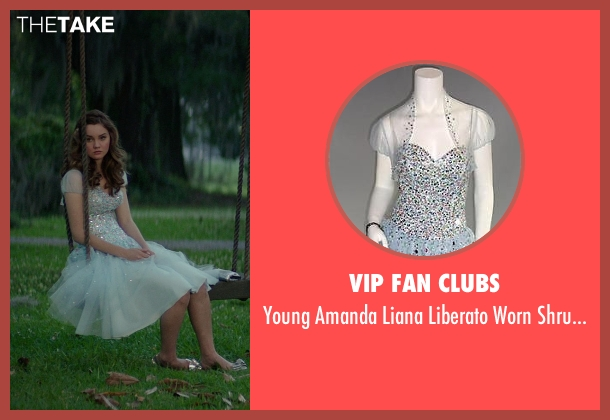 Vip Fan Clubs white dress from The Best of Me seen with Liana Liberato (Young Amanda)