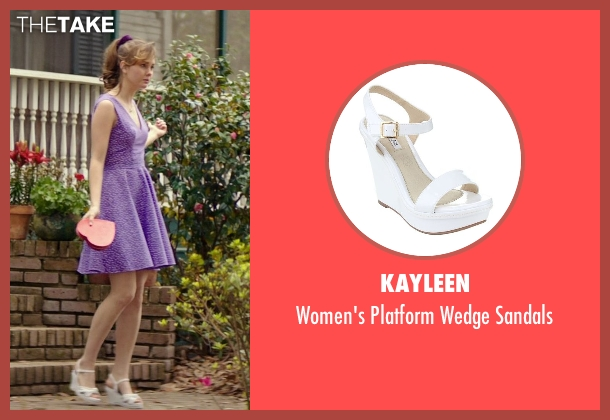 Kayleen white sandals from The Best of Me seen with Liana Liberato (Young Amanda)