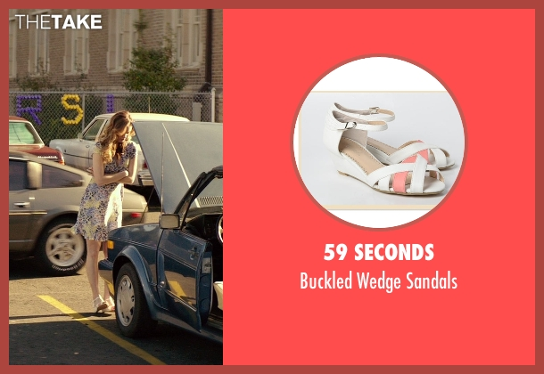 59 Seconds white sandals from The Best of Me seen with Liana Liberato (Young Amanda)