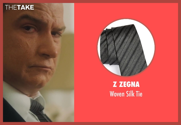 Z Zegna gray tie from Lee Daniels' The Butler seen with Liev Schreiber (Lyndon B. Johnson)