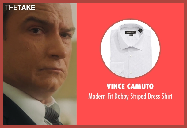 Vince Camuto white shirt from Lee Daniels' The Butler seen with Liev Schreiber (Lyndon B. Johnson)