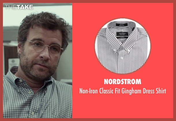 Nordstrom black shirt from Spotlight seen with Liev Schreiber (Marty Baron)